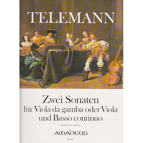 AMADEUS TELEMANN G. P. - ZWEI SONATEN - VIOLE DE GAMBE ET BC