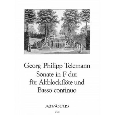 AMADEUS TELEMANN G. PH. - SONATE F-DUR - FLUTE A BEC ET BC