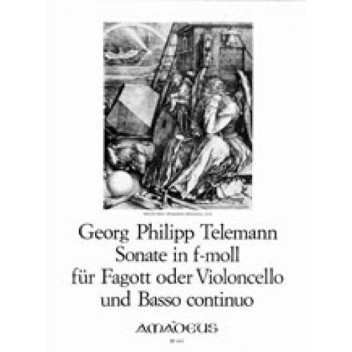 AMADEUS TELEMANN G.P. - SONATE IN F-MOLL - FAGOTT ODER VIOLONCELLO UND BC