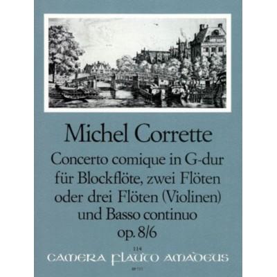 AMADEUS CORRETTE MICHEL - CONCERTO COMIQUE IN G MAJOR OP.8/6 - SCORE AND PARTS