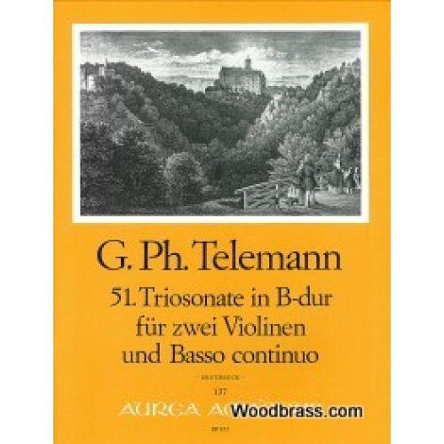 AMADEUS TELEMANN G.PH. - 51. TRIOSONATE IN B-DUR (SONATA POLONAISE) - 2 VIOLINEN, BC