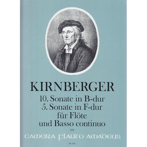 AMADEUS KIRNBERGER J. PH. - 10. SONATE IN B-DUR UND 5. SONATE IN F-DUR - FLUTE