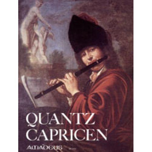 AMADEUS QUANTZ J.J. - CAPRICEN, FANTASIN UND ANFANGSSTüCKE - FLUTE