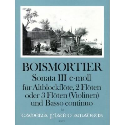 AMADEUS BOISMORTIER - SONATE III OP.34 E-MOLL - CONDUCTEUR & PARTIES