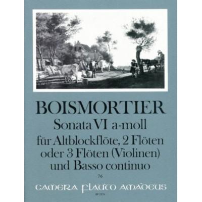 AMADEUS BOISMORTIER - SONATE VI OP.34 IN A MINOR