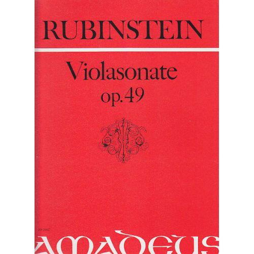 AMADEUS RUBINSTEIN A. - SONATE IN F-MOLL OP. 49 - ALTO ET PIANO