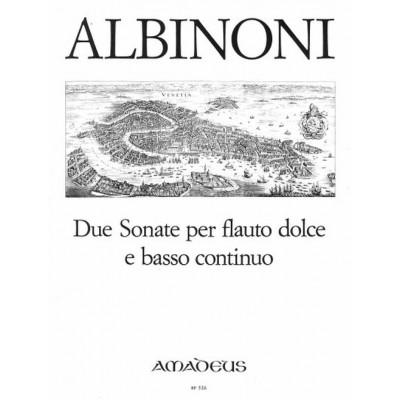 AMADEUS ALBINONI T. - 2 SONATAS OP. POST. - FLUTE A BEC ALTO ET BC