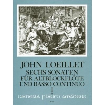 AMADEUS LOEILLET J-B - SIX SONATAS OP.3 (N°1-3) - FLUTE ALTO & BC