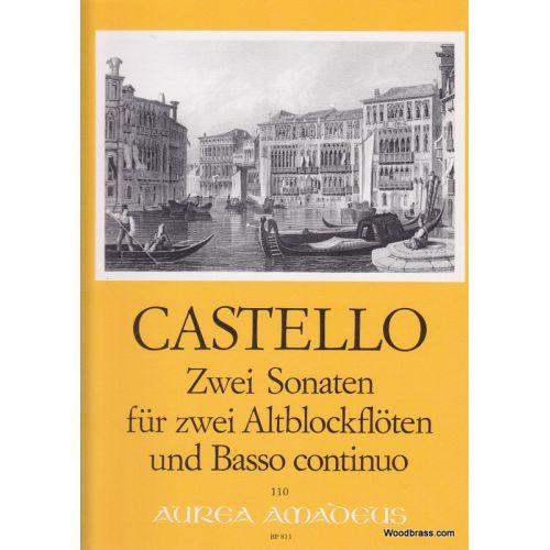 AMADEUS CASTELLO DARIO - ZWEI SONATEN FÜR ZWEI ALTBLOCKFLOTEN UND BASSO CONTINUO