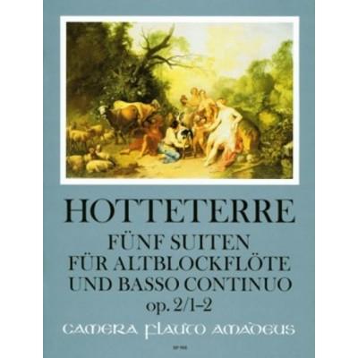 AMADEUS HOTTETERRE J. - FÜNF SUITEN OP. 2, VOL 1 - FLB ALTO ET BC