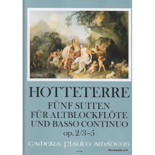 AMADEUS HOTTETERRE J. - FÜNF SUITEN OP. 2, VOL. 2 - FLB ALTO ET BC