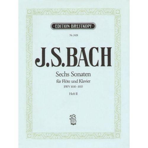 EDITION BREITKOPF BACH J.S. - SECHS SONATEN BWV 1033-1035 - FLUTE, PIANO