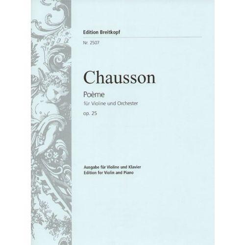 EDITION BREITKOPF CHAUSSON E. - POEME OP. 25