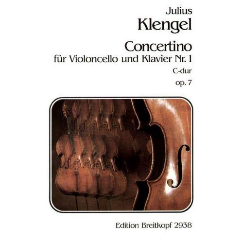 EDITION BREITKOPF KLENGEL J. - CONCERTINO NR. 1 C-DUR OP. 7 - VIOLONCELLE, PIANO
