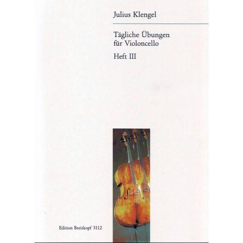 EDITION BREITKOPF KLENGEL J. - TAGLICHE UBUNGEN, BAND III