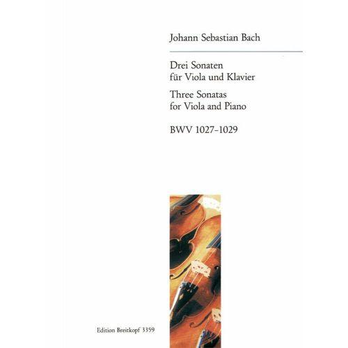EDITION BREITKOPF BACH J.S. - DREI SONATEN BWV 1027-1029