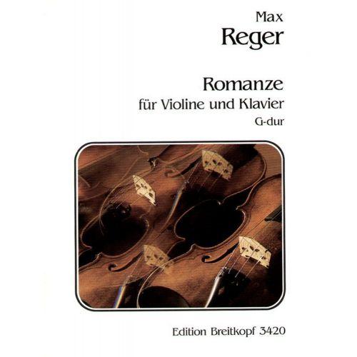 EDITION BREITKOPF REGER M. - ROMANZE G-DUR