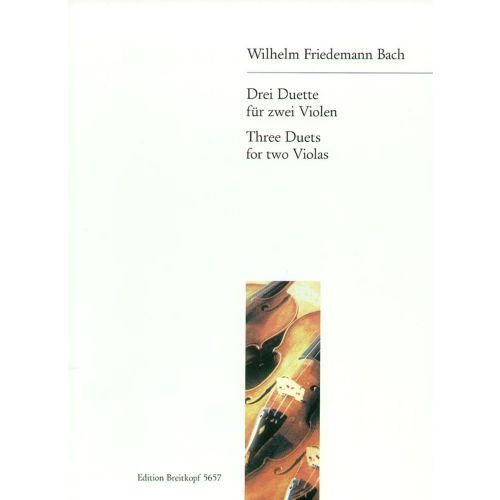 EDITION BREITKOPF BACH W.F. - DREI DUETTE FUR ZWEI VIOLEN