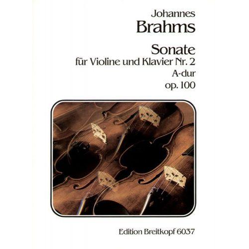 EDITION BREITKOPF BRAHMS J. - SONATE NR. 2 A-DUR OP. 100
