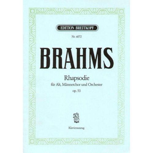 EDITION BREITKOPF BRAHMS J. - RAPSODIE POUR ALTO OP. 53 - CHANT, CHOEUR, PIANO