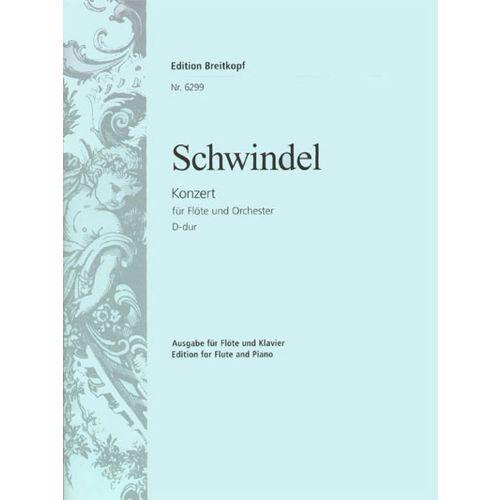 EDITION BREITKOPF SCHWINDEL F. - FLOTENKONZERT D-DUR