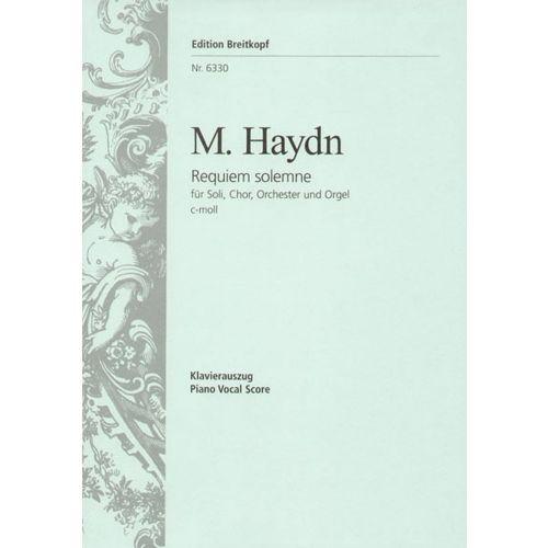 EDITION BREITKOPF HAYDN M. - REQUIEM SOLEMNE C-MOLL