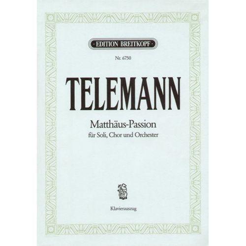 EDITION BREITKOPF TELEMANN G.P. - MATTHAUS-PASSION