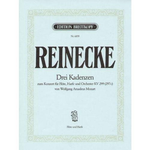 EDITION BREITKOPF REINECKE C. - 3 KADENZEN ZU MOZART KV 299