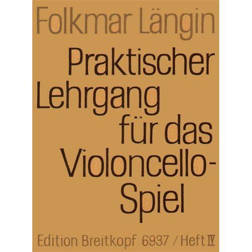 EDITION BREITKOPF LANGIN F. - LEHRGANG VIOLONCELLOSPIEL 4 - VIOLONCELLE