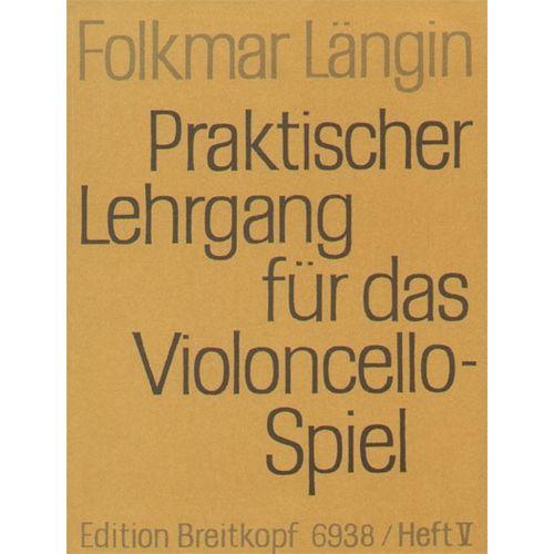 EDITION BREITKOPF LANGIN F. - LEHRGANG VIOLONCELLOSPIEL 5 - VIOLONCELLE