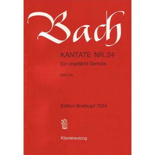 EDITION BREITKOPF BACH J.S. - KANTATE 24 EIN UNGEFARBT GEM.