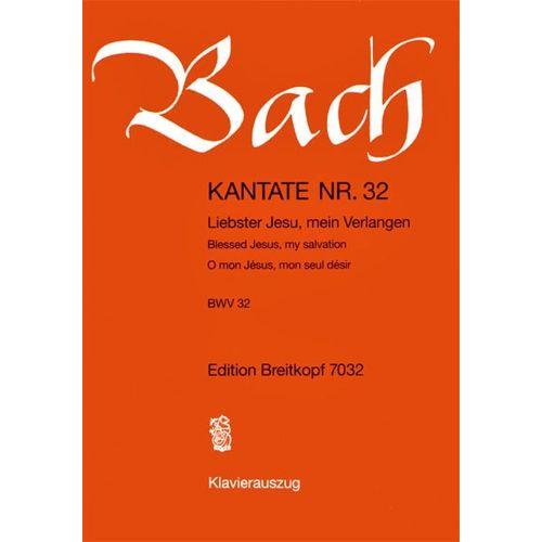 EDITION BREITKOPF BACH J.S. - KANTATE 32 LIEBSTER JESU