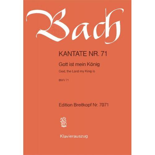 EDITION BREITKOPF BACH J.S. - KANTATE 71 GOTT IST MEIN