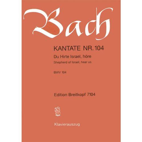 EDITION BREITKOPF BACH J.S. - KANTATE 104 DU HIRTE ISRAEL
