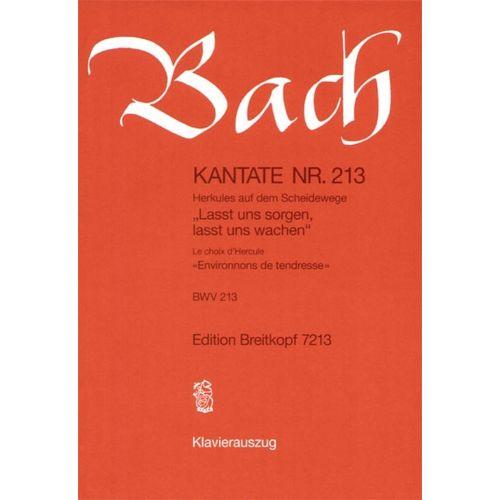 EDITION BREITKOPF BACH J.S. - KANTATE 213 LASST UNS SORGEN