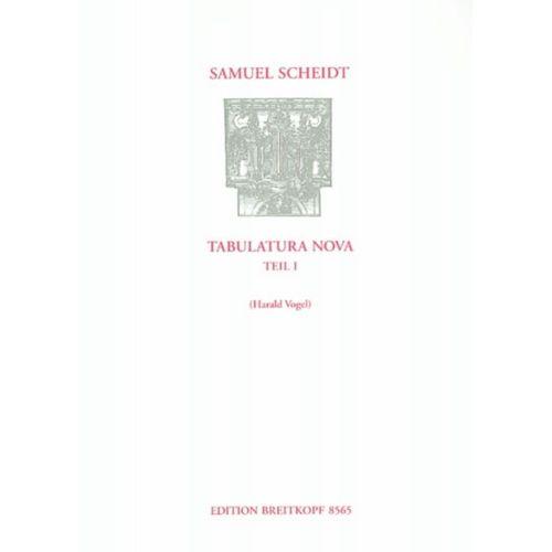 EDITION BREITKOPF SCHEIDT S. - TABULATURA NOVA, TEIL 1