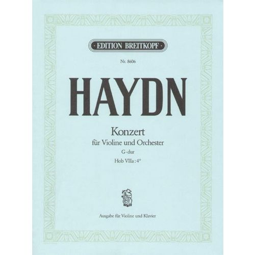 EDITION BREITKOPF HAYDN J. - VIOLINKONZERT G-DUR HOB VIIA:4