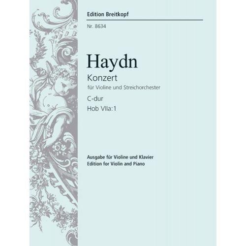 EDITION BREITKOPF HAYDN J. - VIOLINKONZERT C-DUR HOB VIIA:1