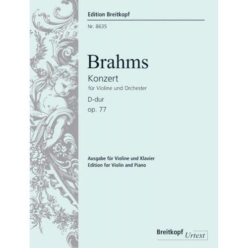 EDITION BREITKOPF BRAHMS J. - VIOLINKONZERT D-DUR OP. 77