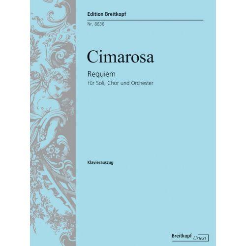 EDITION BREITKOPF CIMAROSA D. - REQUIEM G-MOLL