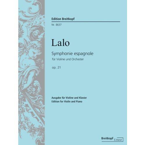 EDITION BREITKOPF LALO E. - SYMPHONIE ESPAGNOLE OP. 21
