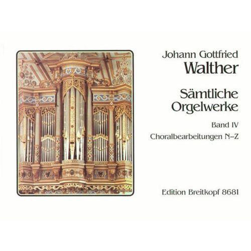 EDITION BREITKOPF WALTHER J.G. - SAMTLICHE ORGELWERKE, BAND 4