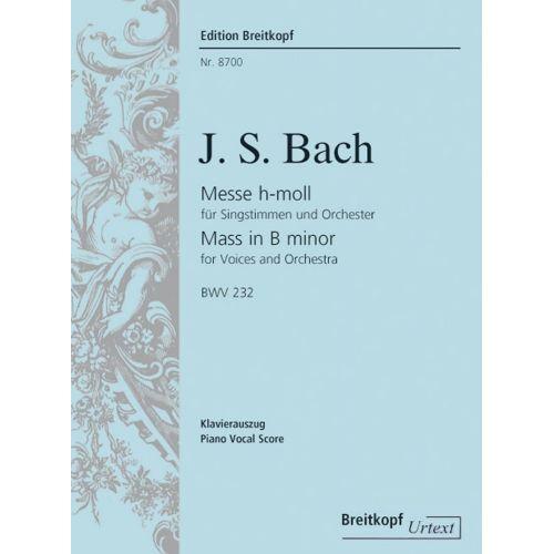 EDITION BREITKOPF BACH J.S. - MESSE H-MOLL BWV 232