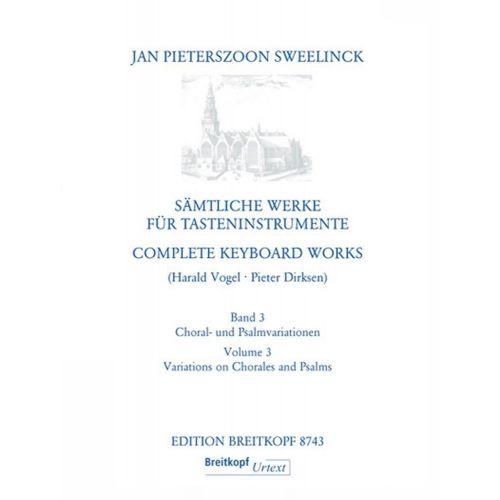 EDITION BREITKOPF SWEELINCK J.P. - WERKE FUR TASTENINSTRUMENTE 3