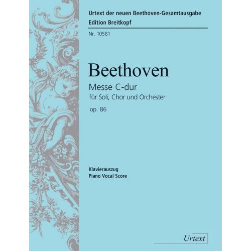 EDITION BREITKOPF BEETHOVEN L.V. - MESSE DO MAJEUR OP. 86 - CHANT, CHOEUR, PIANO