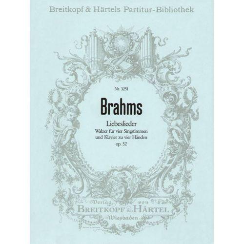 EDITION BREITKOPF BRAHMS J. - LIEBESLIEDER OP. 52 (WALZER)