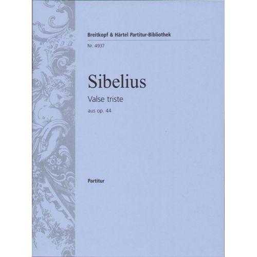 EDITION BREITKOPF SIBELIUS - VALSE TRISTE AUS OP.44 - SCORE