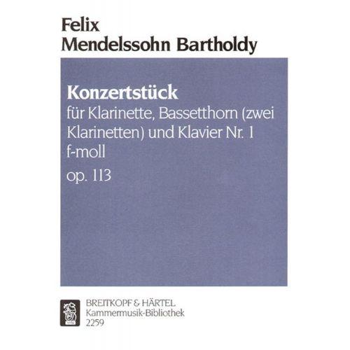 EDITION BREITKOPF MENDELSSOHN BARTHOLDY F. - KONZERTSTUCK 1 F-MOLL OP. 113