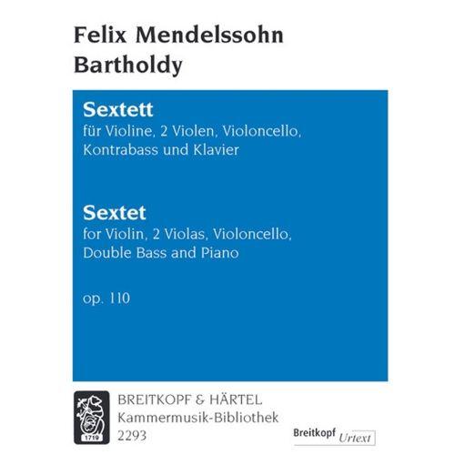 EDITION BREITKOPF MENDELSSOHN BARTHOLDY F. - SEXTETT OP. 110