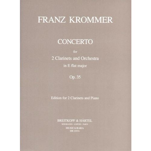 EDITION BREITKOPF KROMMER F. - CONCERTO IN ES OP. 35